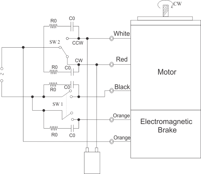 25 watt electromagnetic brake motor and gear motor swipfe wiring diagram for single phase motor asfbconference2016 Choice Image