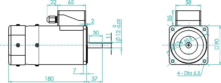 90 watt electromagnetic brake motor and gear motor