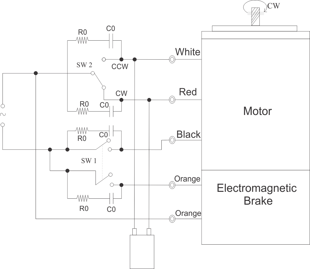 90 Watt Electromagnetic Brake Motor And Gear Swipfe Wiring Diagram For Single Phase